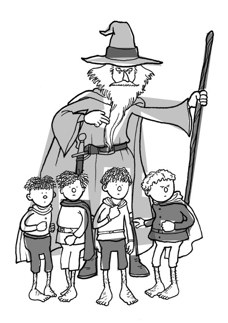 Gandalf and the boys.